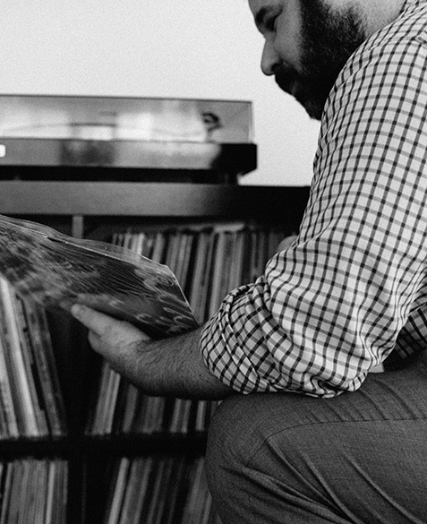 brian levine sorts through his collection for just the right album.