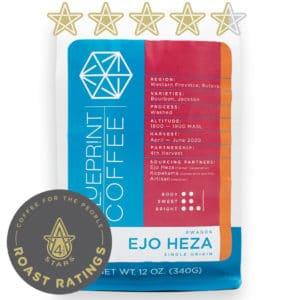 Ejo Heza is a coffee from Rutsiro, Rwanda produced by the women of the Kopakama cooperative. It is roasted by Blueprint Coffee in St. Louis, Missouri.
