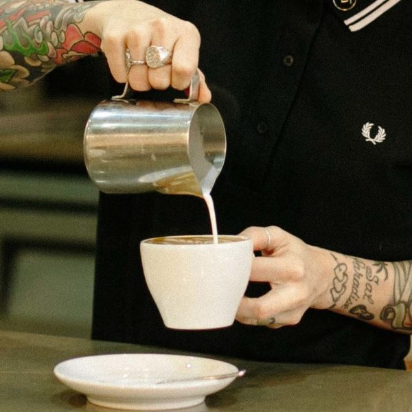 Attendees must master milk steaming to pour great cappuccinos.