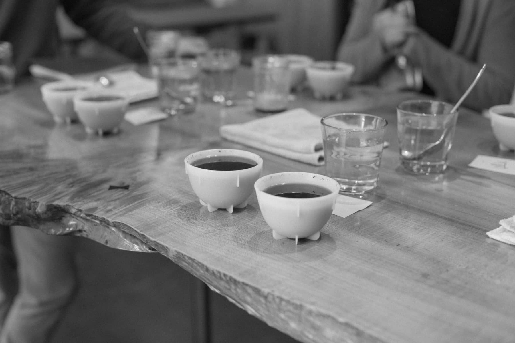 Cupping is a crucial step in our coffee sourcing to verify the quality and integrity of each selection.