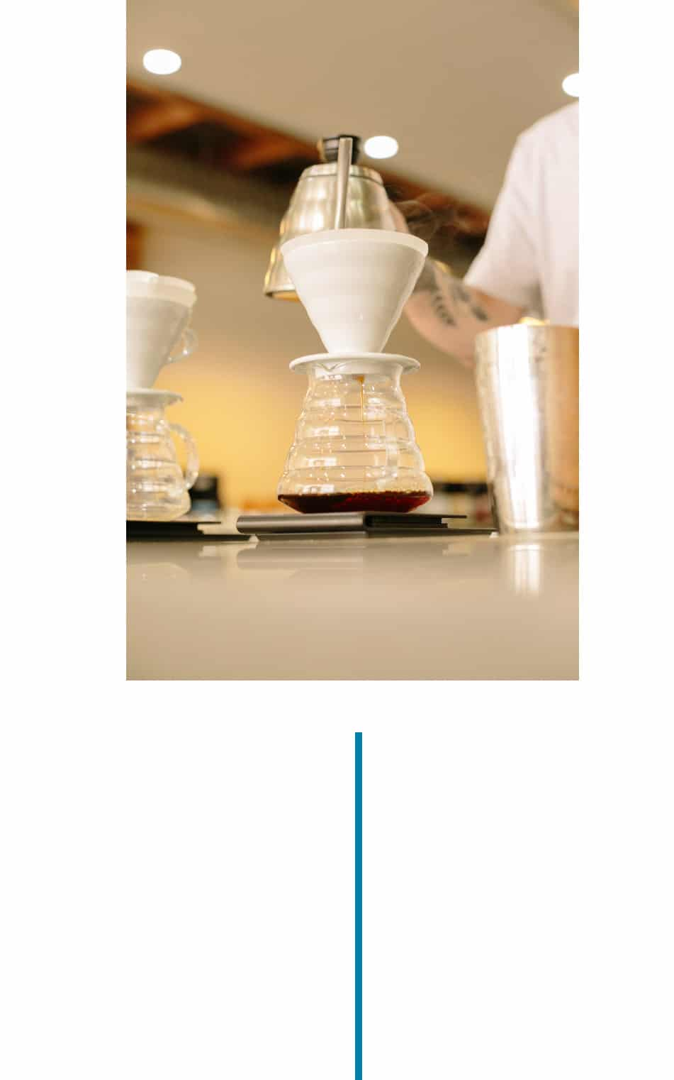 Slowly pour in circles (around quarter-sized diameter) at the center of the V60. Pour should finish at 40 seconds.