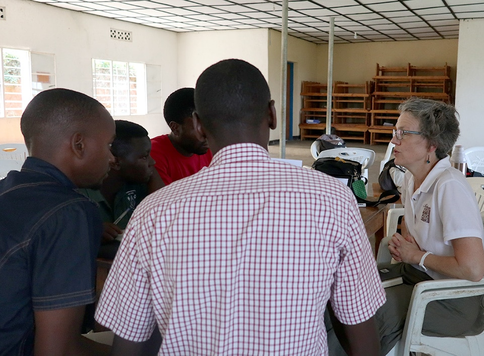 Ruth Ann Church of Artisan Coffee Imports leads a LEAN training at Kopakama.