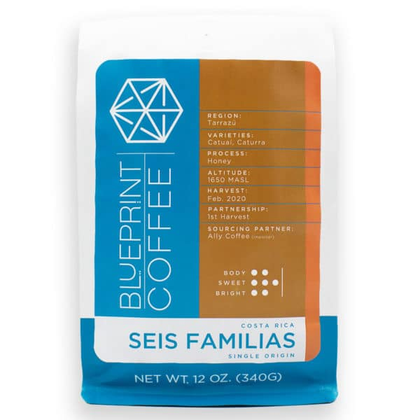 Seis Familias Costa Rica is a honey processed coffee roasted by Blueprint Coffee.