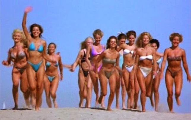 beach-return of the killer tomatoes-movie review-babbling old man-danterants-blogspot-com