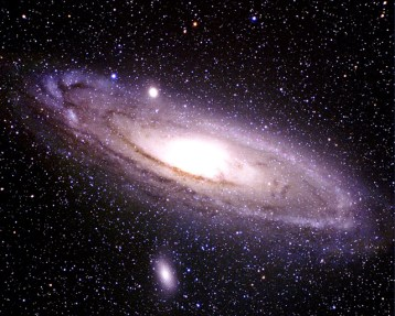 Our nearest neighbor: the Andromeda Galaxy, a spiral galaxy.