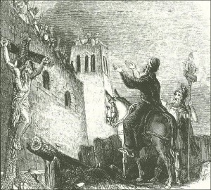 Josephus pleads with the city to surrender to the Romans. 70 A.D.