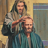 Brother Saul, receive you sight.