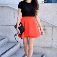 cropped top x skirt