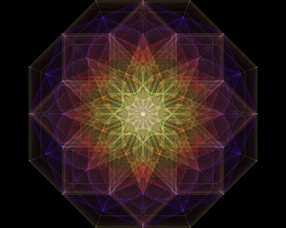 Golden Geometric Light