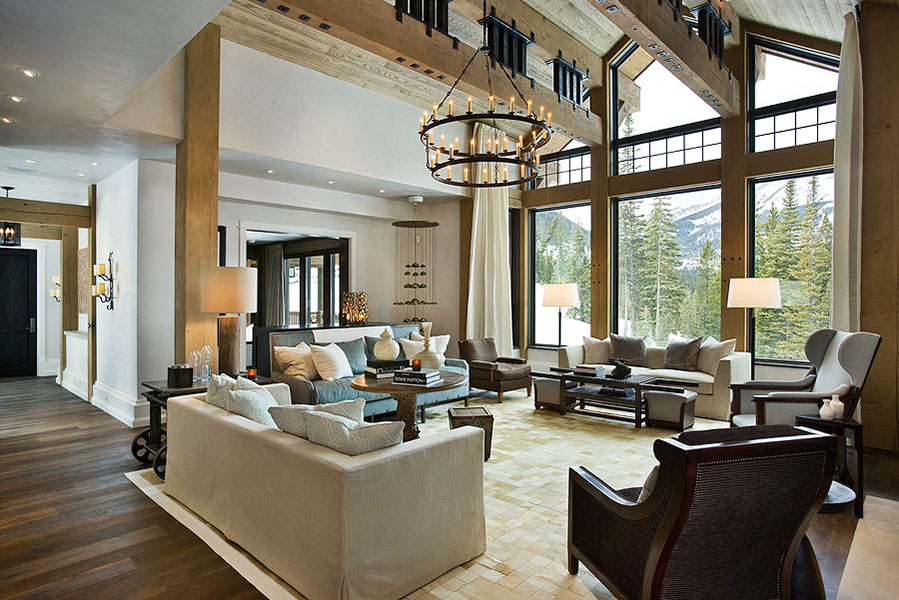 Great Rooms To Dream About Inspiration For Big Sky Custom HomesBlue Ribbon Builders