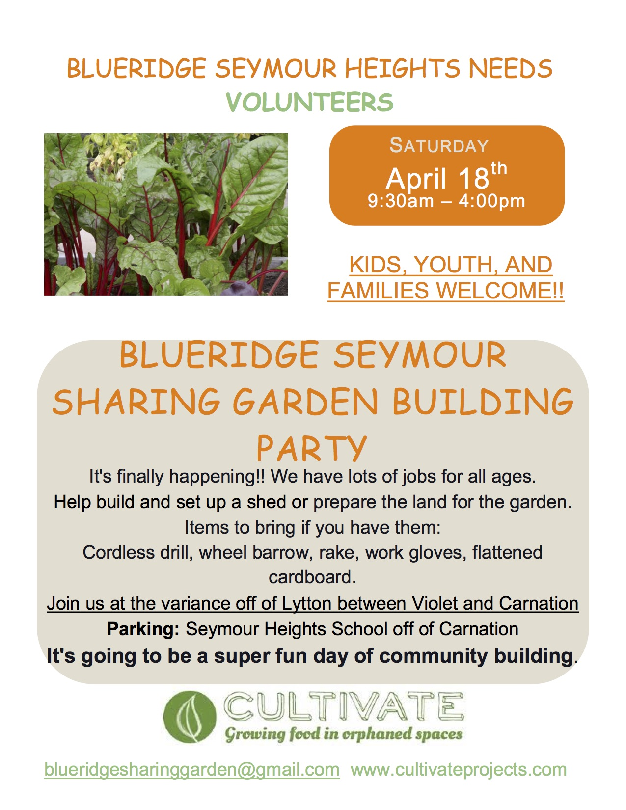 Sharing Garden – Work Party #1 a BIG success
