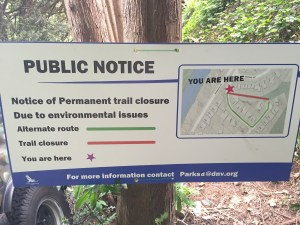 trail closure sign