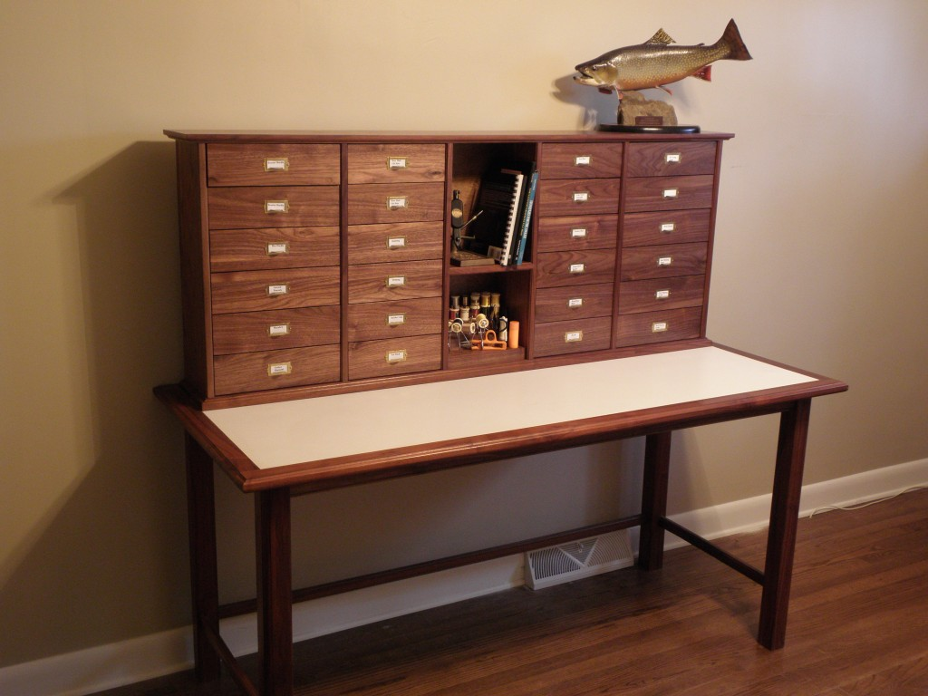 Fly Tying Desks Blue Ridge Furniture And Cabinet Works