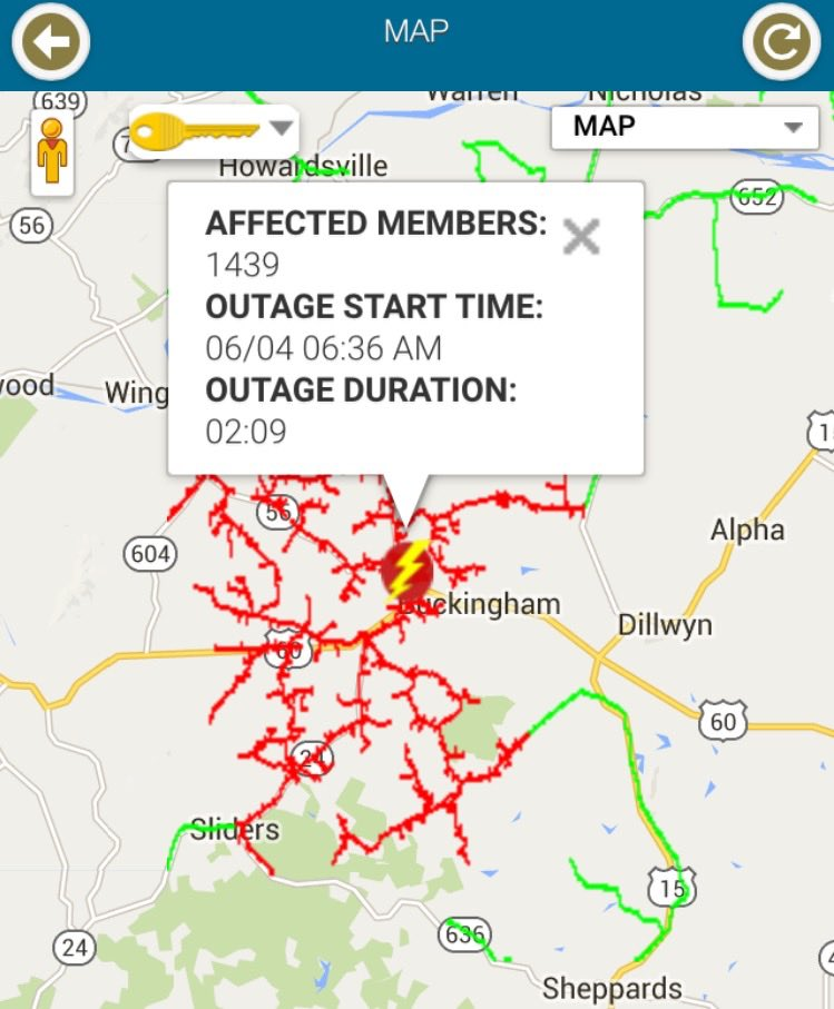 Blue Ridge Power Outage : ridge, power, outage, Buckingham:, Large, Power, Outage, Affecting, Updated, Restored, Ridge, Magazine