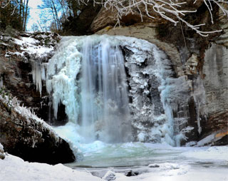 Looking Glass Falls Wallpaper 5 Things To Do In The Blue Ridge During The Winter
