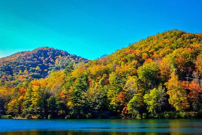 Lake at Vogel State Park in north Georgia