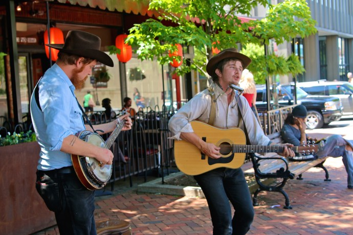 Busking Musicians in Asheville, NC