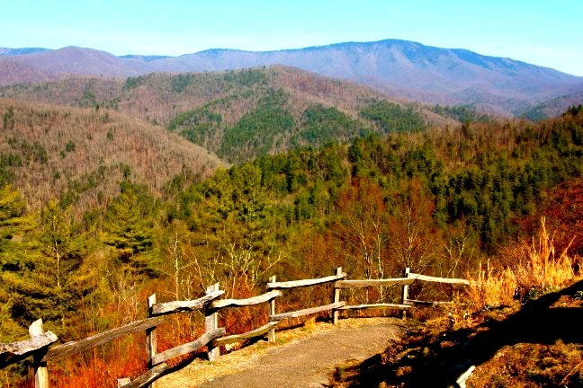 Scenic Overlook of the Cataloochee Valley in Great Smoky Mountains National Park