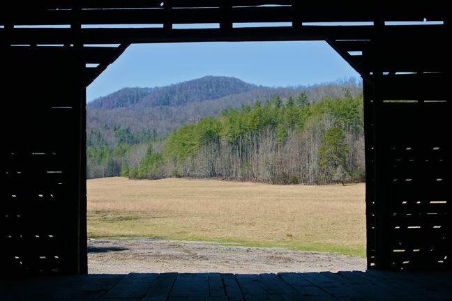 View From Inside a Barn in Cataloochee Valley