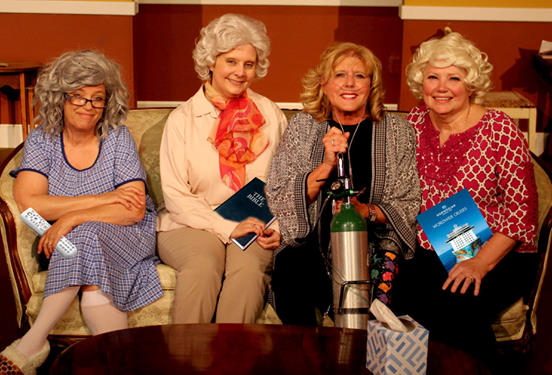 "Cast of ""Four Old Broads"" at Blue Ridge Community Theatre"