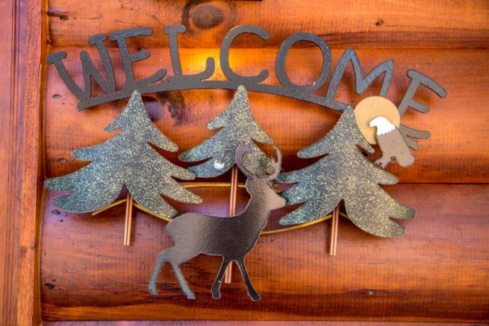 Georgia Mountain Cabin Rentals: Wood Haven Retreat Welcome Sign