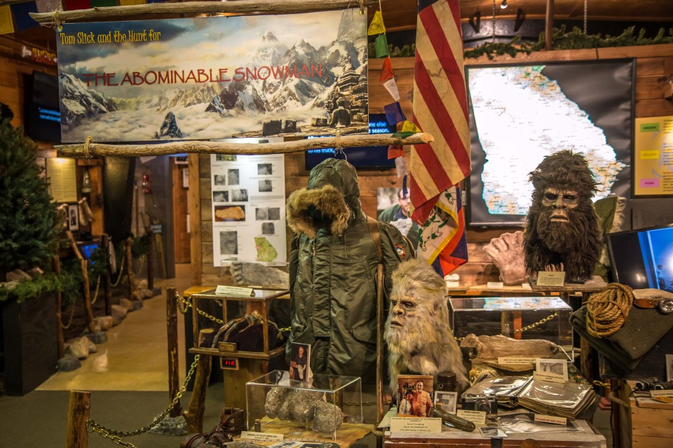 Abominable Snowman-Yeti Exhibit at the Expedition Bigfoot Museum
