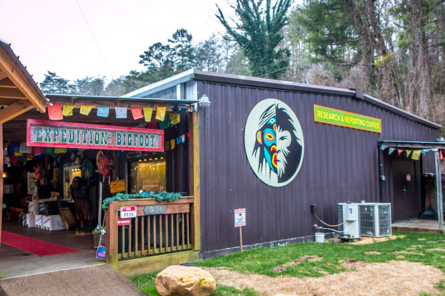 Exterior of Expedition Bigfoot Museum in North Georgia