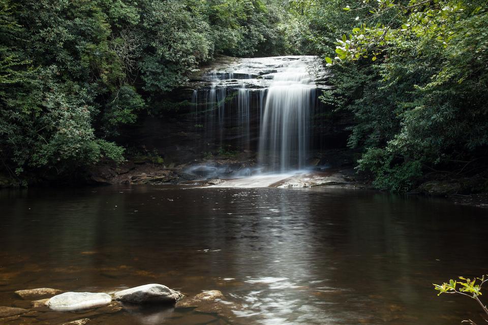20 Western North Carolina Waterfalls - School House Falls