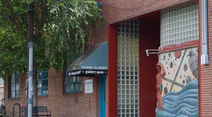 Exterior Shot of Odyssey Center for Ceramic Arts in RAD, Asheville