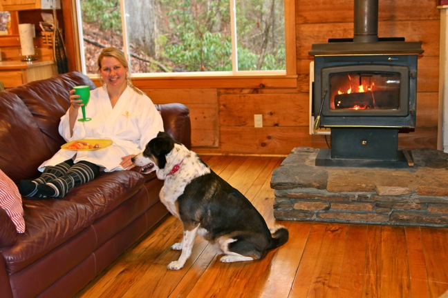 Interior view of Dog-friendly Cabins near Chimney Rock at the Cottages at Spring House Farm