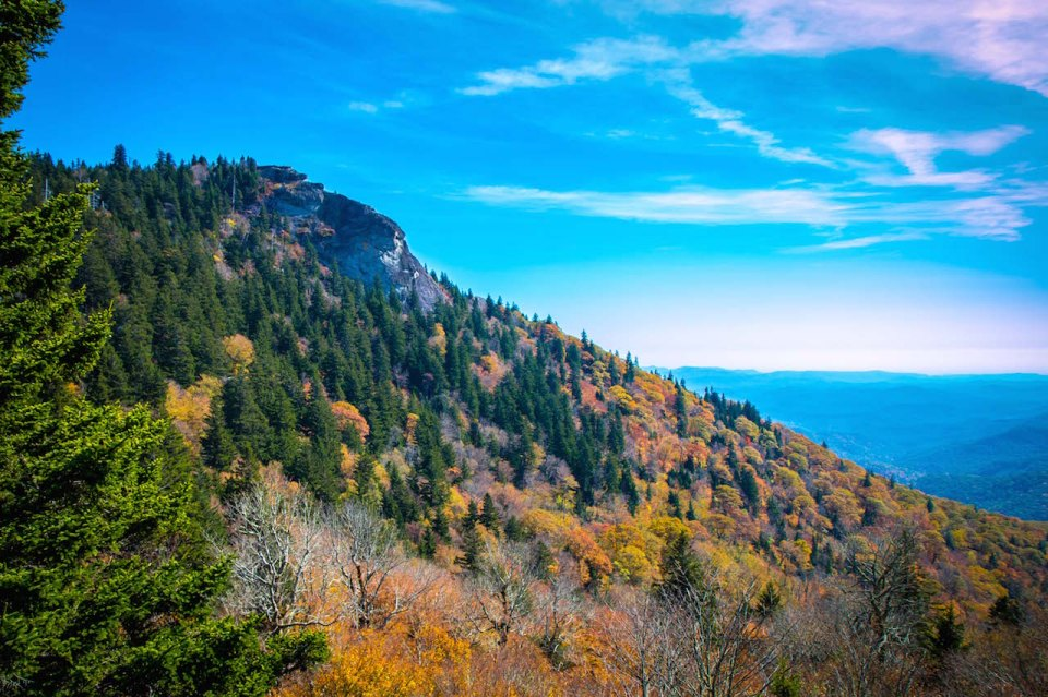 Devil's Courthouse Overlook on Blue Ridge Parkway in NC