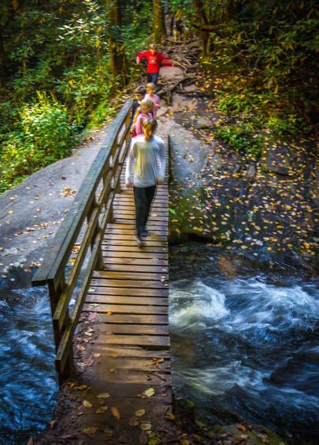 Kids Hiking the Hemlock Falls Trail, GA