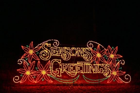 Seasons Greetings Christmas Lights at Lake Lanier Islands, GA