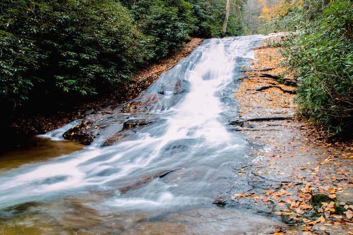 Lower Helton Creek Falls in Autumn