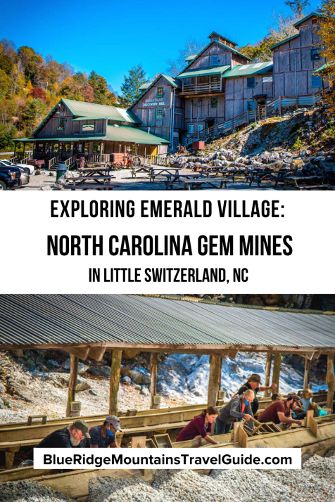 Exploring the Emerald Village Gem Mines in Little Switzerland NC, which includes 12 mines and a chance to try your luck at gem mining and gold panning. | gem mining in nc | things to do in little switzerland nc | emerald village nc | gem mining nc | mining in north carolina | mines in north carolina | little switzerland nc | mines north carolina | north carolina mines | mines in nc |