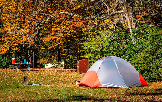 Linville Falls Campgrounds on the Blue Ridge Parkway NC