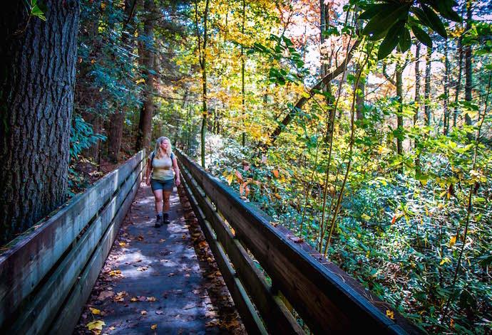 Mary Gabbett Hiking at Dukes Creek Falls