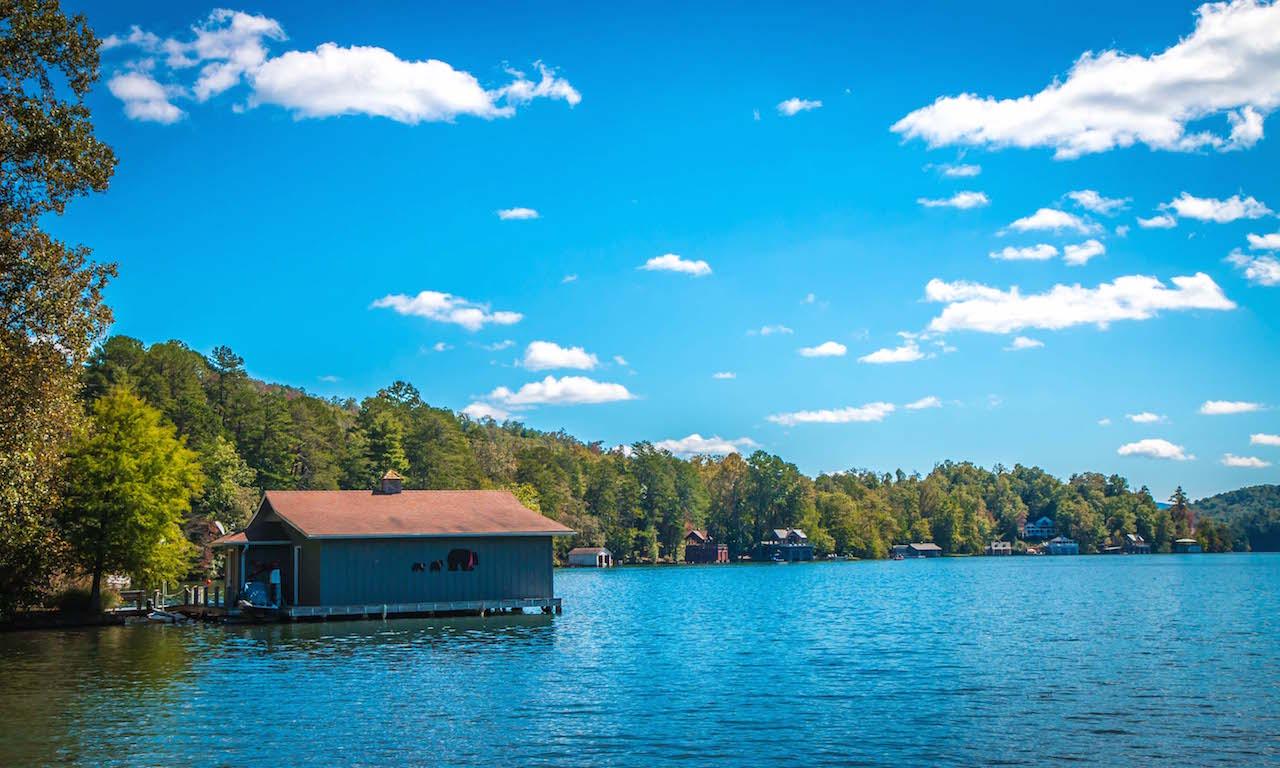 Lake Burton Boathouse at Moccasin Creek State Park