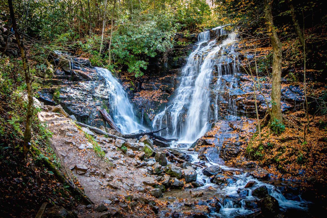 The Best Blue Ridge Parkway Waterfalls: Soco Falls in Cherokee NC