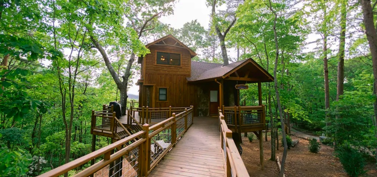 Canopy Blue Treehouse Blue Ridge Ga