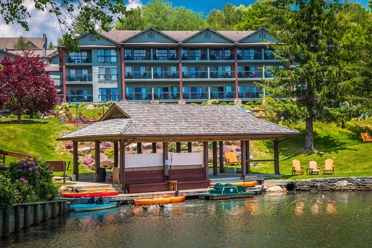 View From the Lake at Chetola Resort in Blowing Rock NC