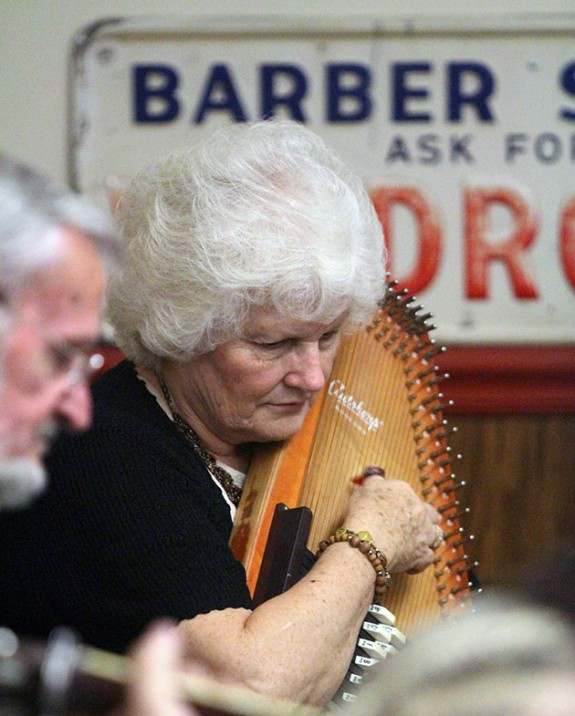 Janet Turner jammin' in The Floyd Barber Shop