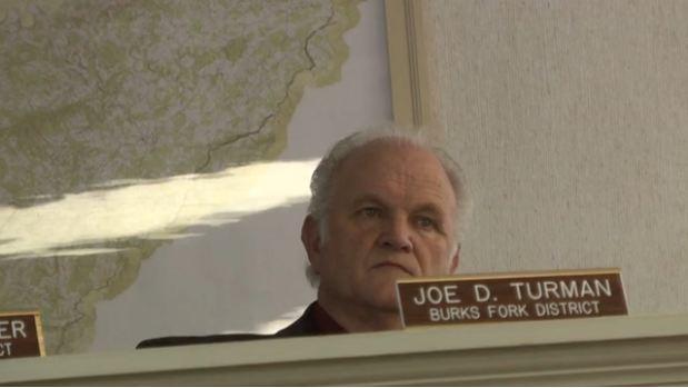 Burks Fork supervisor Joe Turman