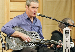 Floyd blues musician and music teacher Scott Perry