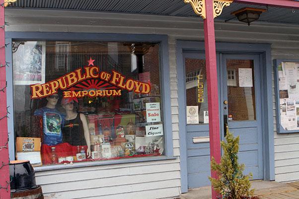 The Republic of Floyd shop on Locust Street in downtown Floyd.