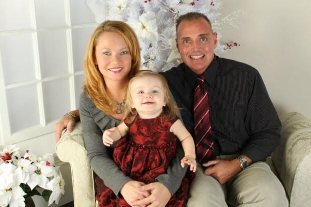 Stephanie and Trey Weeks with daughter Amarynn.
