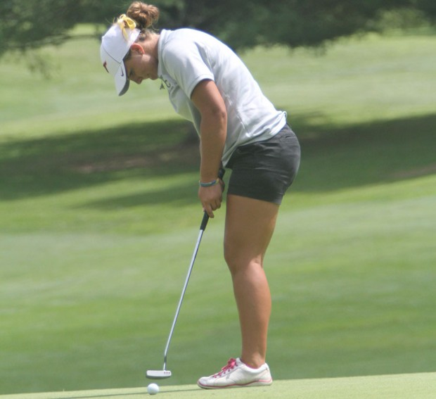 Amanda Hollandsworth playing at an earlier match this year.