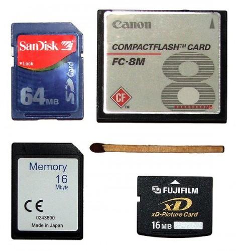 Memory cards for modern digital cameras.