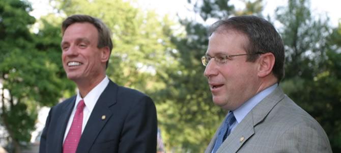 Delegate Mark Sickles with Senator Mark Warner.