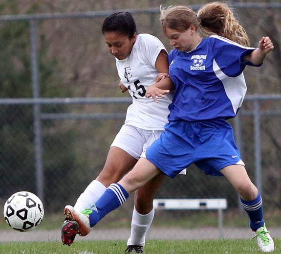 Soccer action against Auburn